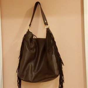 Deux Lux Faux Leather Large Tote Zipped
